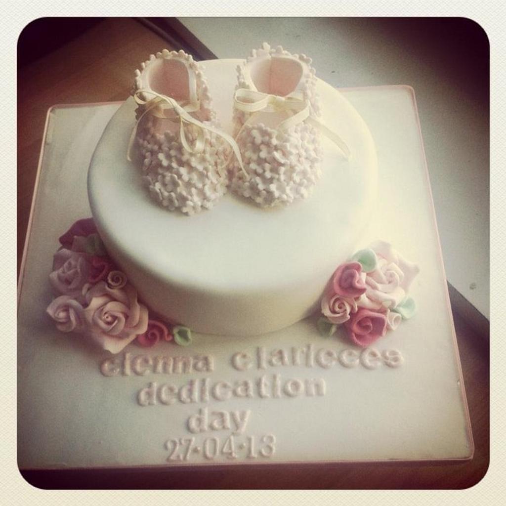 elegant christening cake by missbrianab