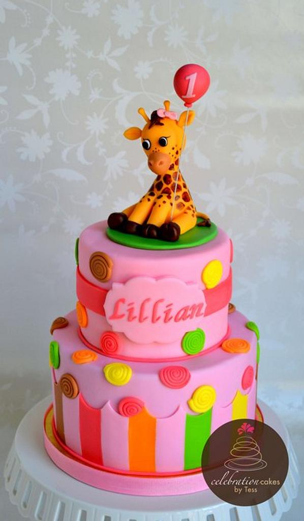 Sweet at One Giraffe Cake by Maria