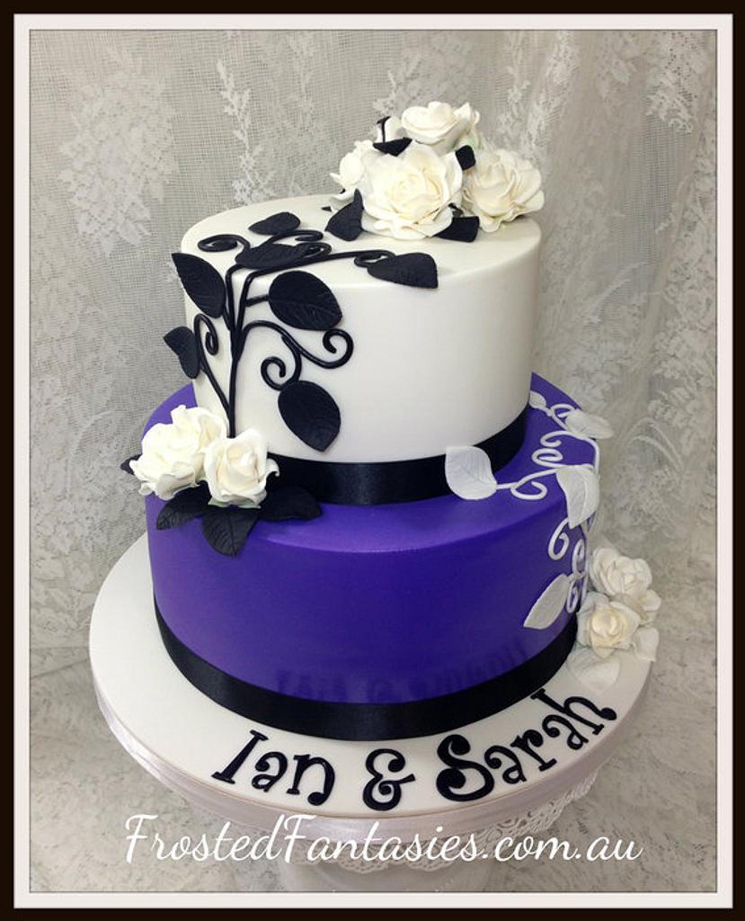 embellished Engagement cake by Rachel