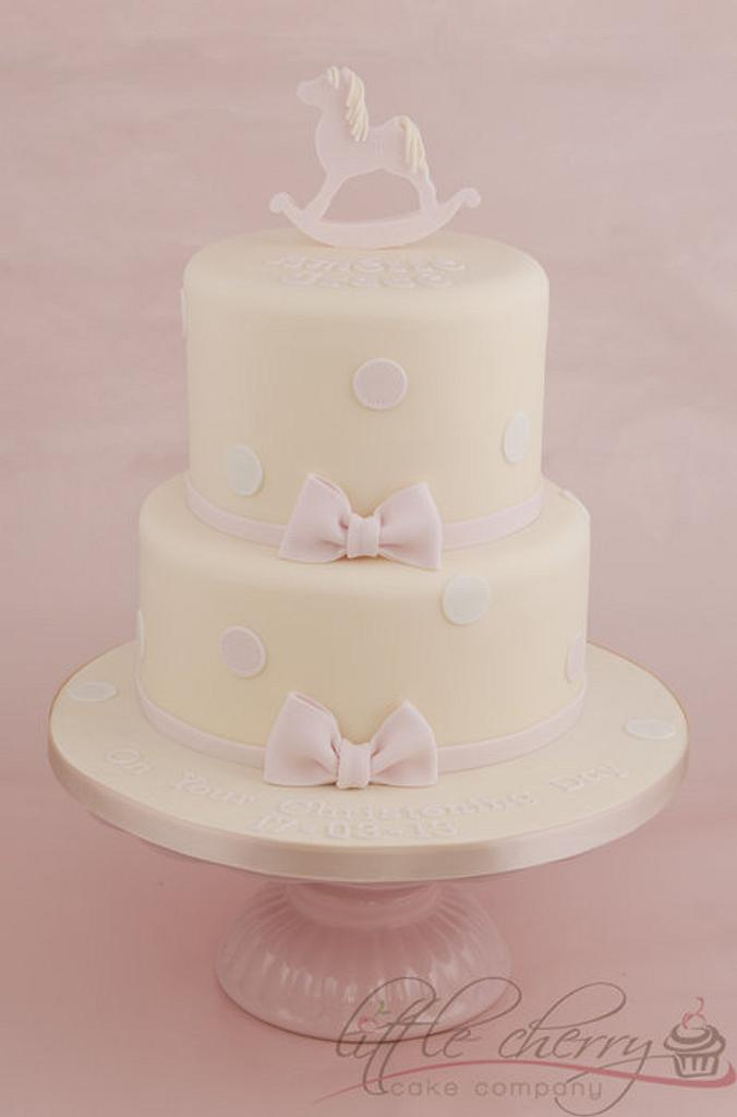 Rocking Horse Christening Cake by Little Cherry