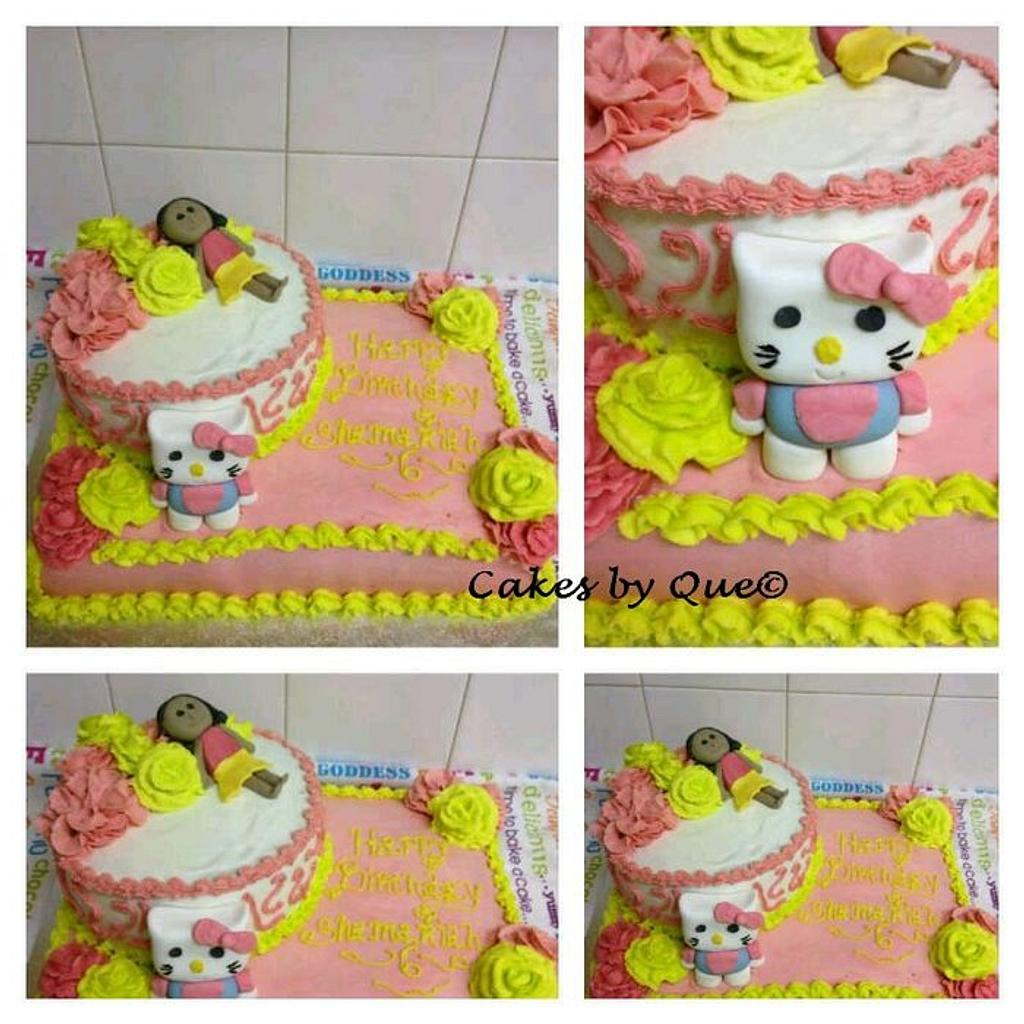 hello kitty  by Que's Cakes