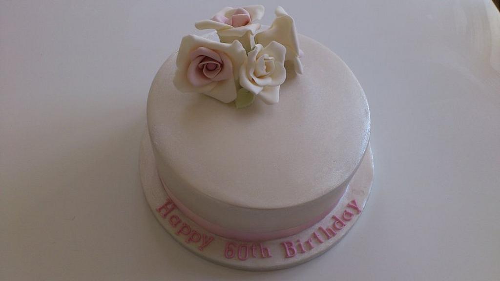 60th Birthday Cake by Rachel Nickson
