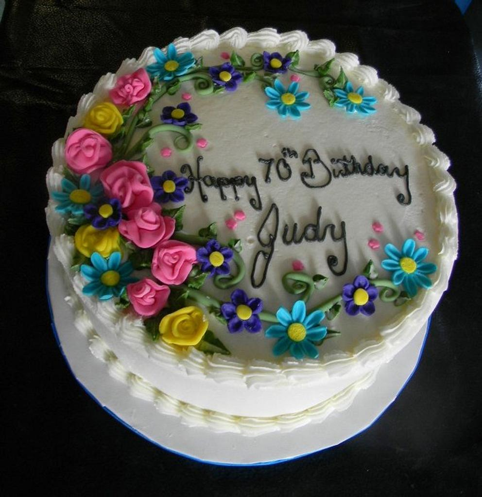 Happy 70th Judy by Donna Tokazowski- Cake Hatteras, Hatteras N.C.