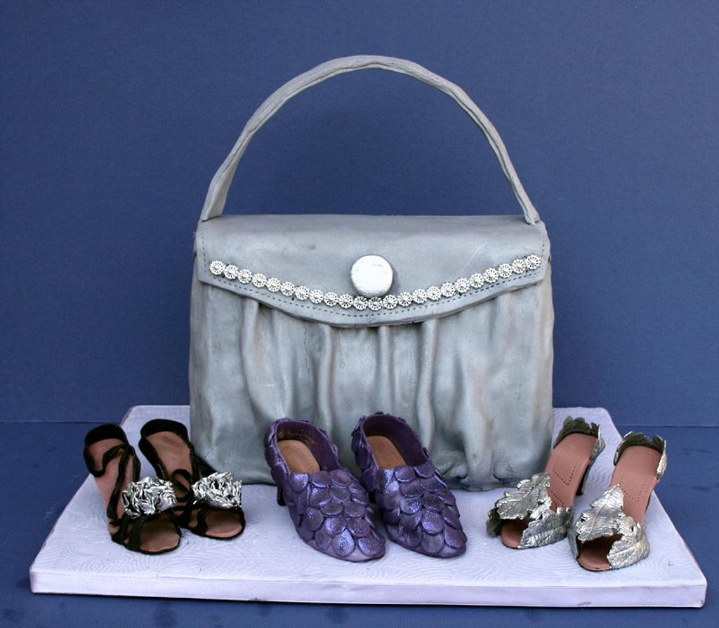Shoes and Handbag Cake by Kingfisher Cakes and Crafts