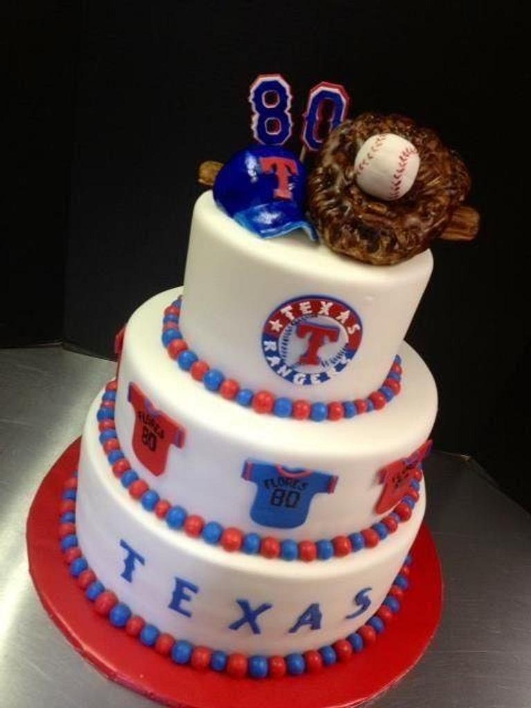 Texas Rangers birthday cake by Sweet Life of Cakes