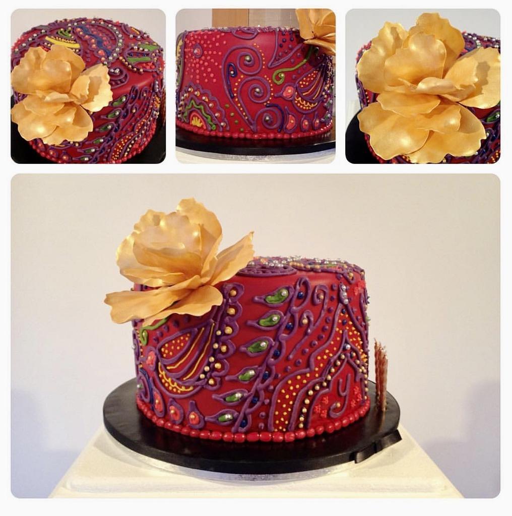 Henna Birthday Cake by Sugar by Rachel