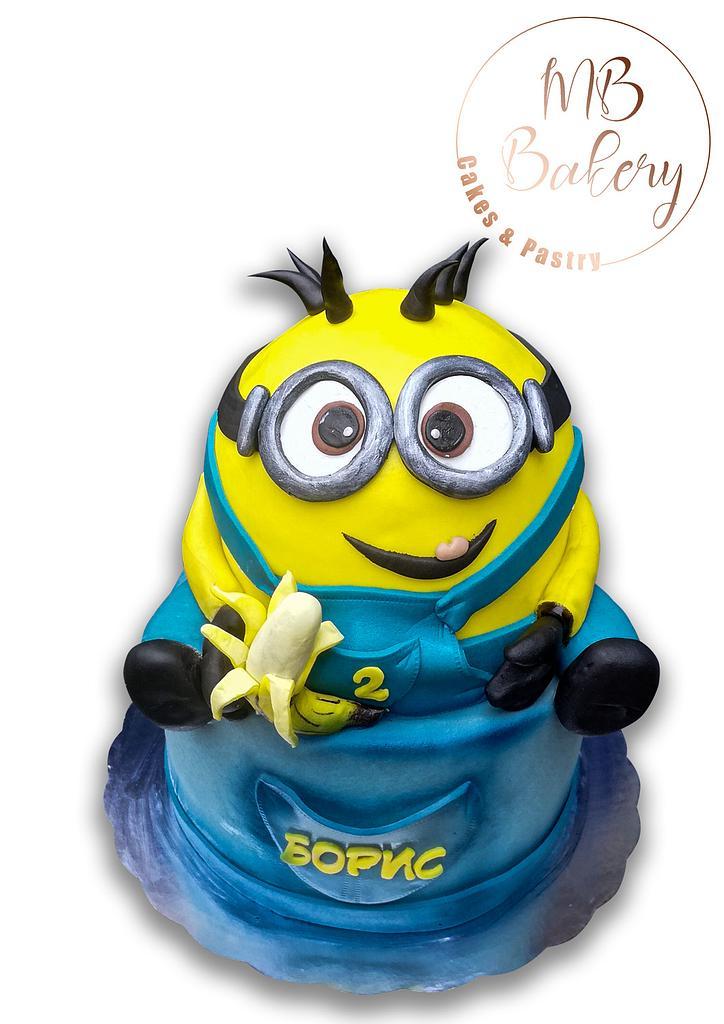 3D minion cake by mariatboneva