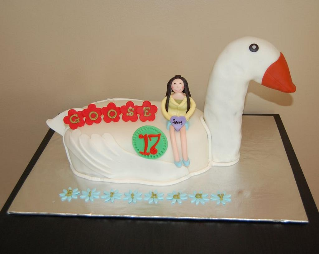 Goose Birthday cake by funni