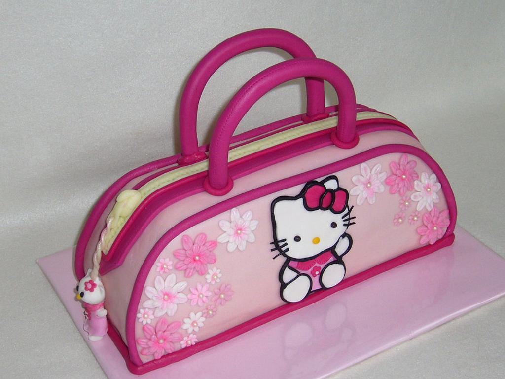 Kitty handbag cake by mivi
