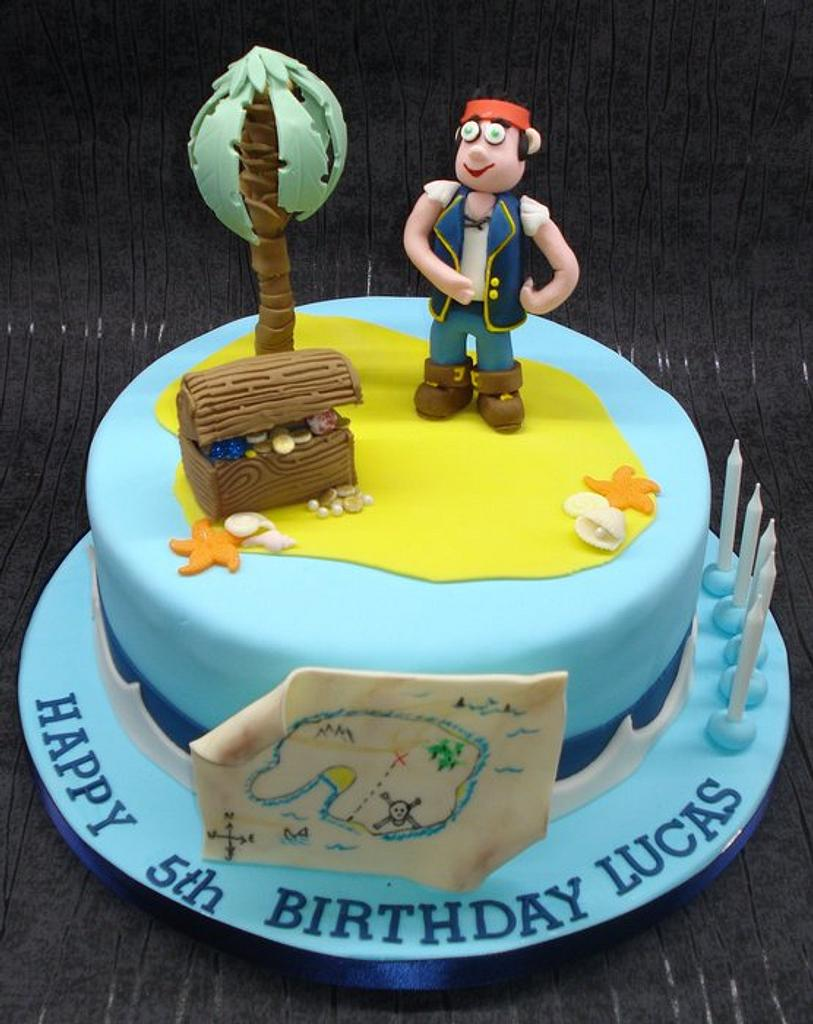 Jake & the Neverland Pirates cake by That Cake Lady