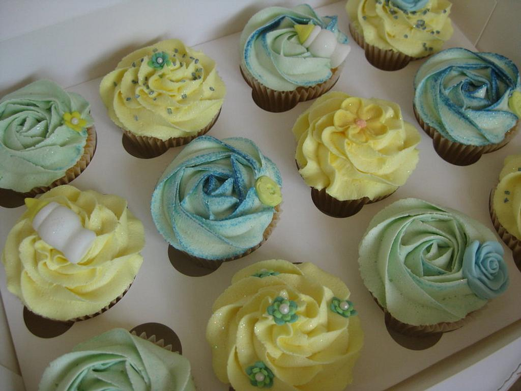 Boy Baby Shower Cupcakes by Sian