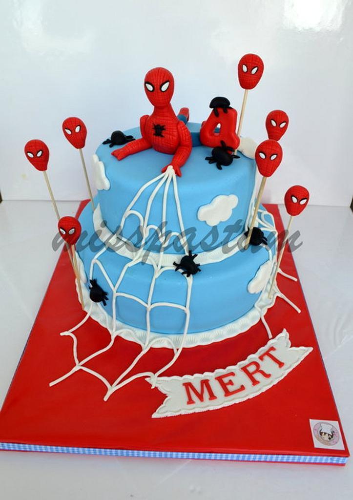 Spiderman cake by Misspastam