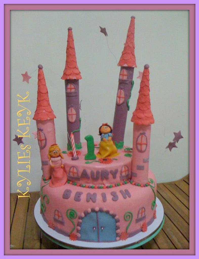 PRINCESS CASTLE CAKE by kylieskeyk