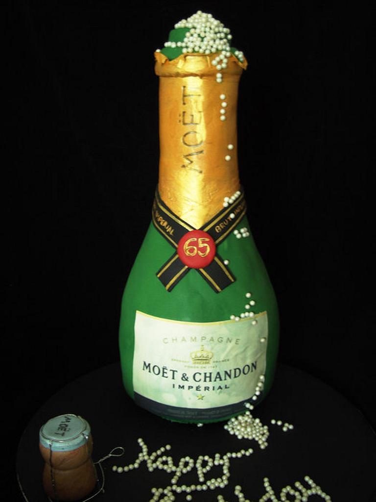 Champagne bottle cake by jill chant