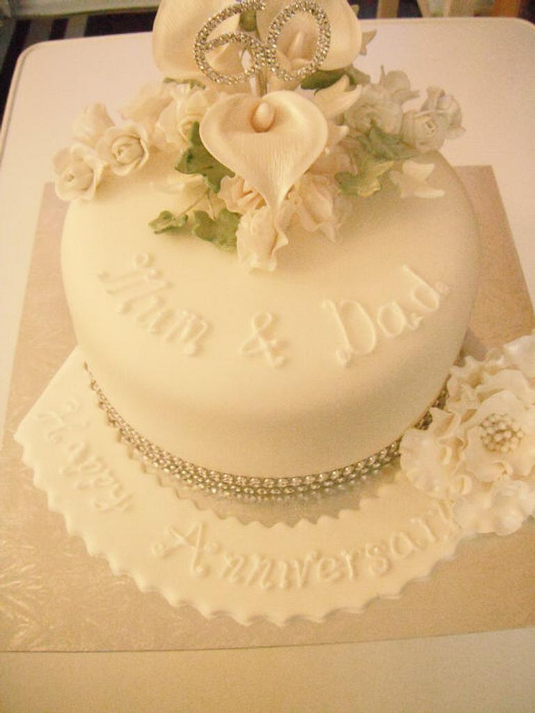 Diamond Wedding  by Vanessa Platt  ... Ness's Cupcakes Stoke on Trent