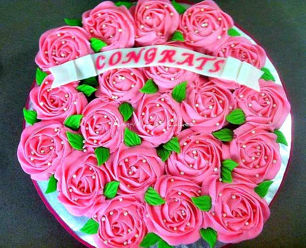 Rose cupcake bouquet  by Ann-Marie Youngblood