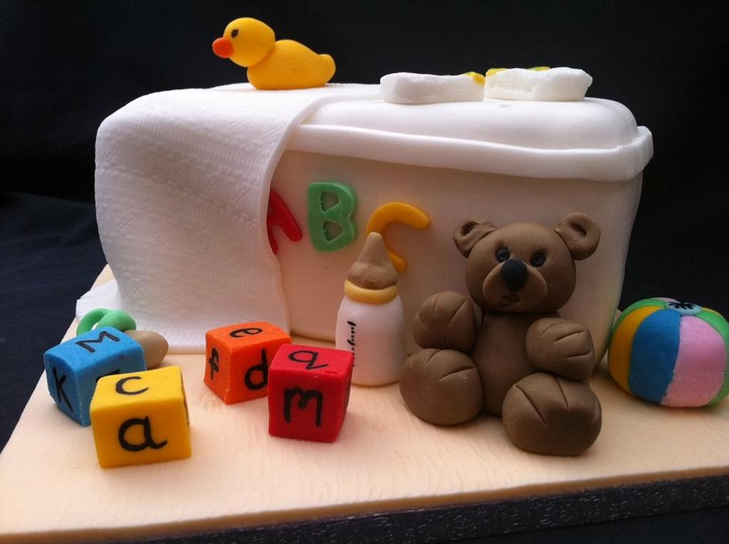 Baby Shower Cake by Lesley Southam