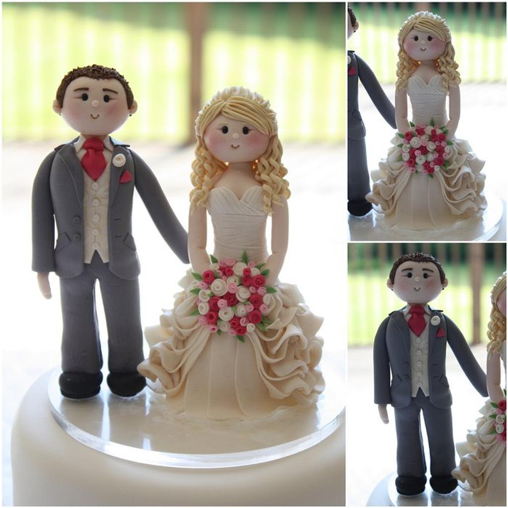 Bride & Groom Cupcake Tower by TiersandTiaras