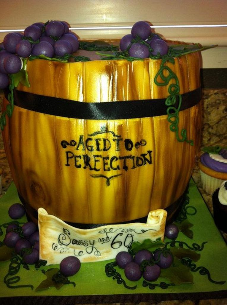 Wine Barrel Cake by Hot Mama's Cakes