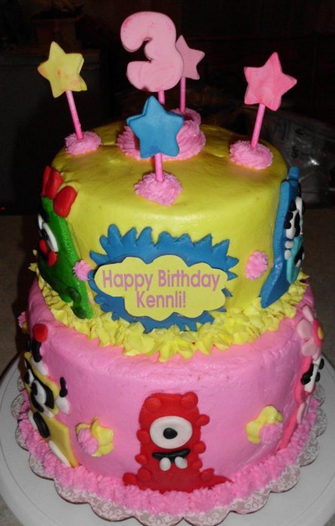 A Yo Gabba Gabba Cake by Carrie Freeman