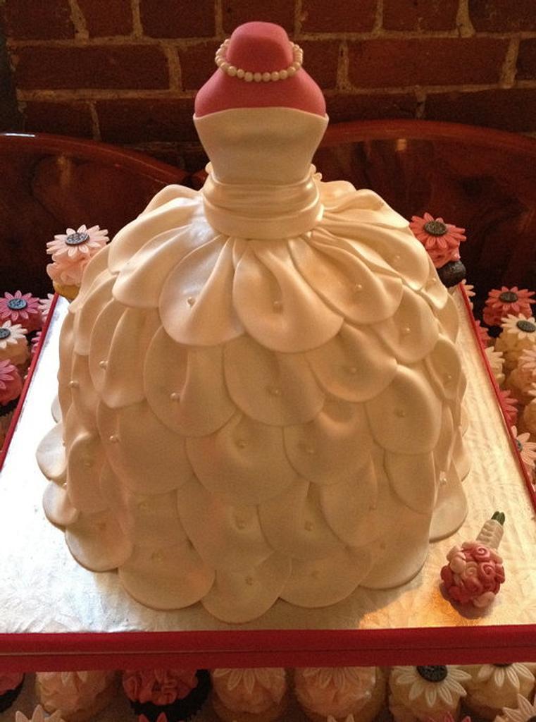 Wedding Dress Bridal Shower Cake by Bianca