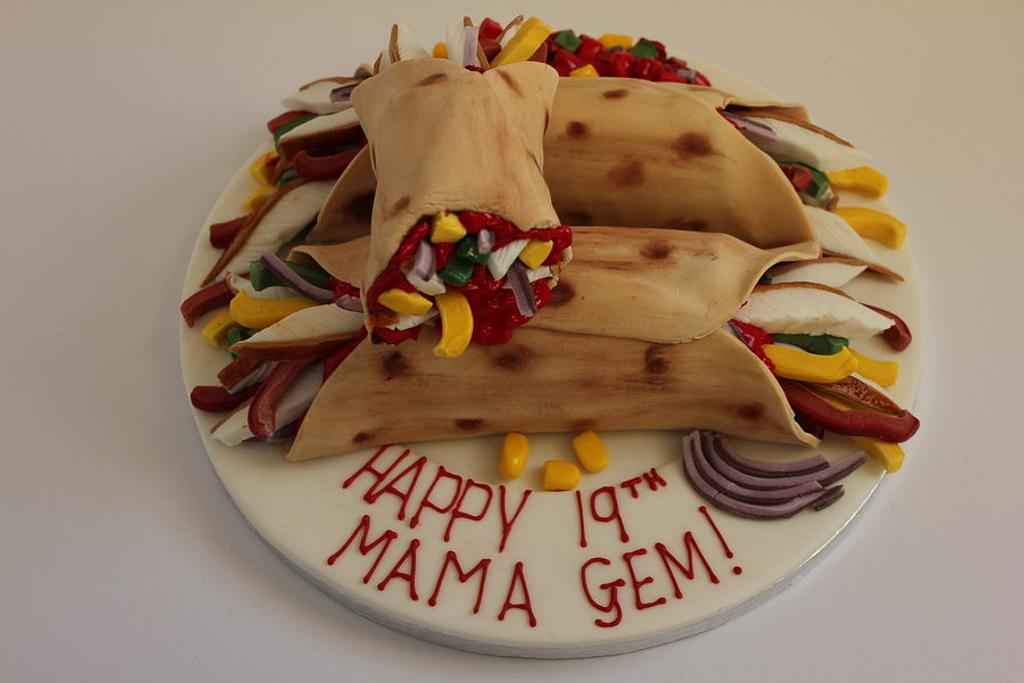 Chicken Fajita Birthday Cake!! by Paul James