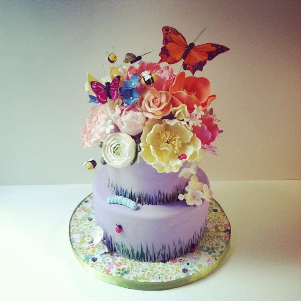 Garden Cake Version 2 by Stephanie