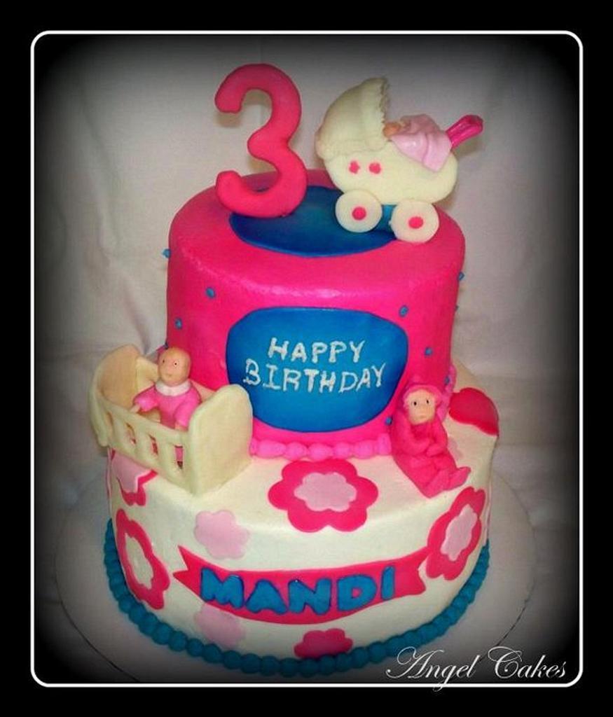 Babydoll Birthday Cake by Angel Rushing