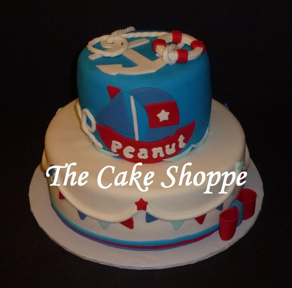 Nautical baby shower cake by THE CAKE SHOPPE