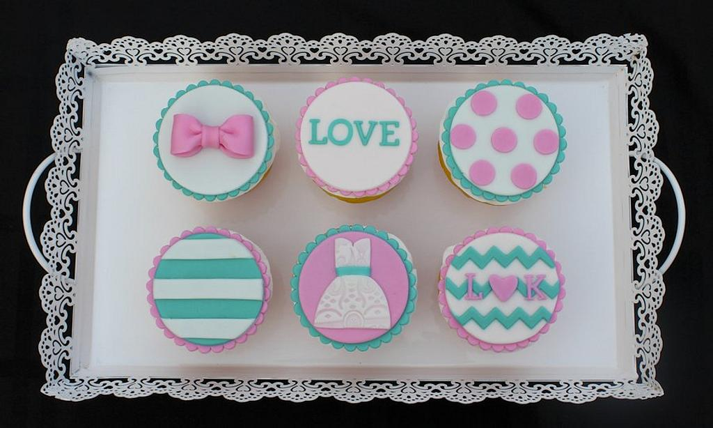 Bridal Shower Cupcakes by Cuteology Cakes