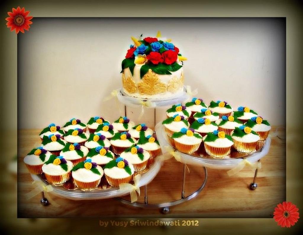 Flowers Wedding Cake by Yusy Sriwindawati