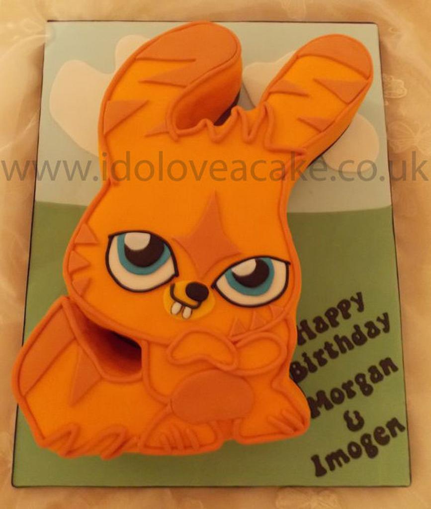 "16"" Katsuma Moshi Monster Cake by IDoLoveaCake"
