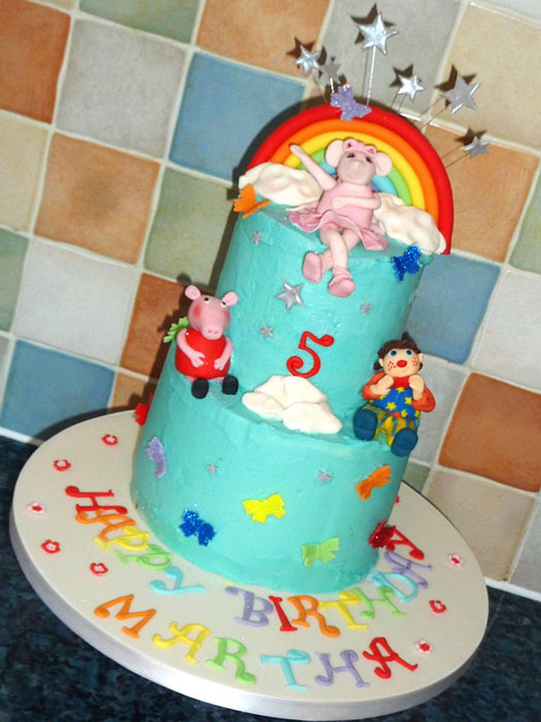Rainbow character cake by OfF ThE CuFf CaKeS!!