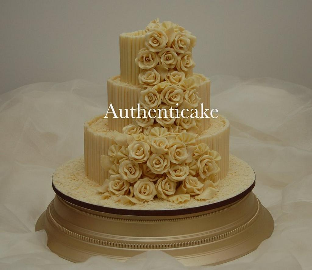 Belgian chocolate rose cascade  by Ange Cliffe