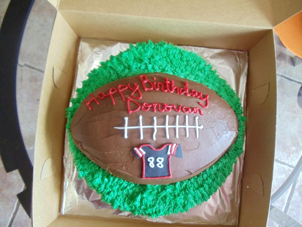 Football Birthday Cake by Tamara Bemiss