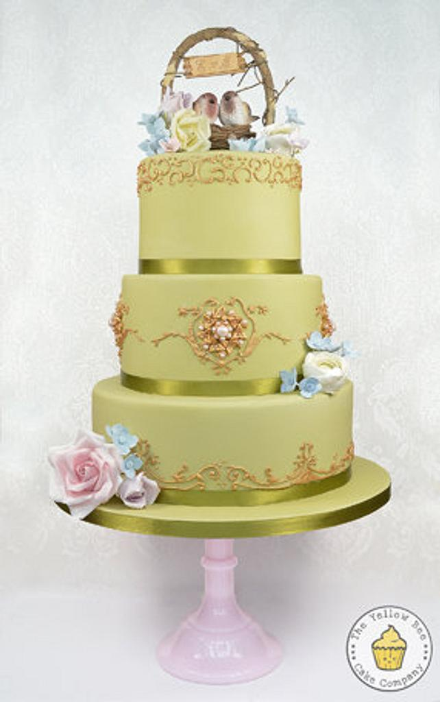 """""""Marie"""" Wedding Cake and Dessert Table. by Yellow Bee Sugar Art by Vicky Teather"""