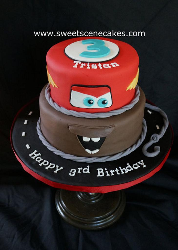 Cars Themed Cake - not an original design by Sweet Scene Cakes