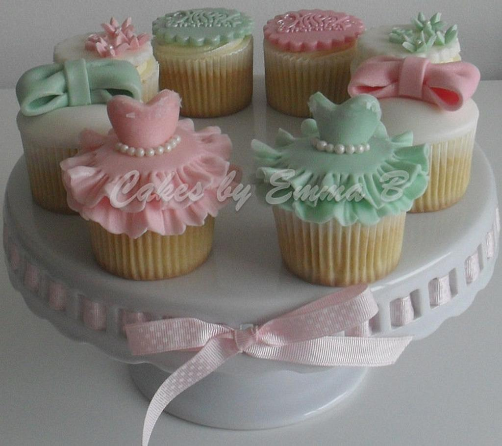 Girly Birthday Cupcakes by CakesByEmmaB
