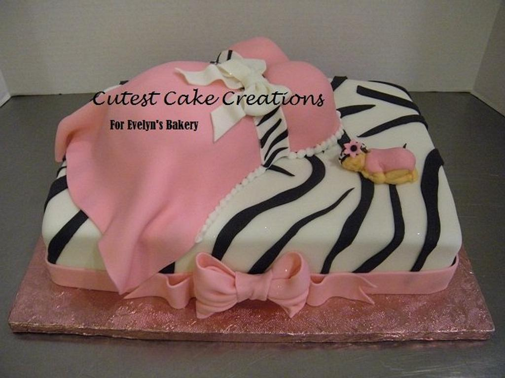 Zebra Belly cake by Evelyn Vargas