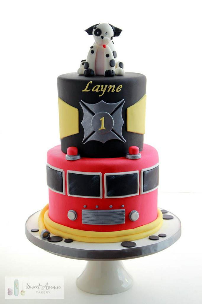 Fire fighter birthday cake by Sweet Avenue Cakery