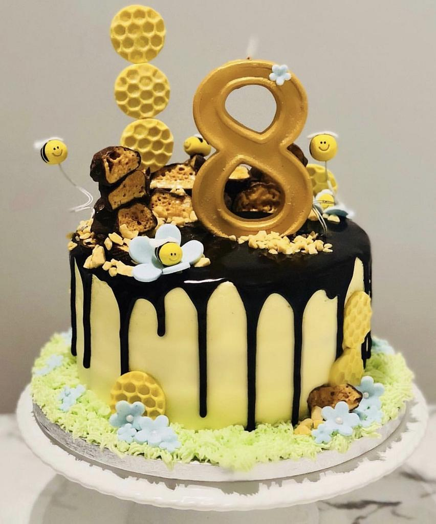 Honeycomb Birthday Cake by Sugar by Rachel