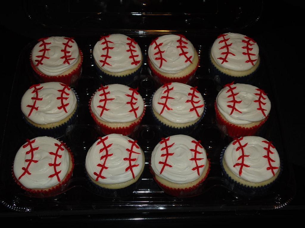 Baseball cupcakes by Kim Leatherwood