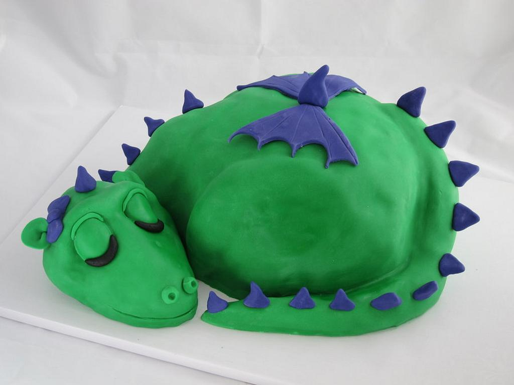 Dragon Baby Shower Cake, Part 2 by Kate