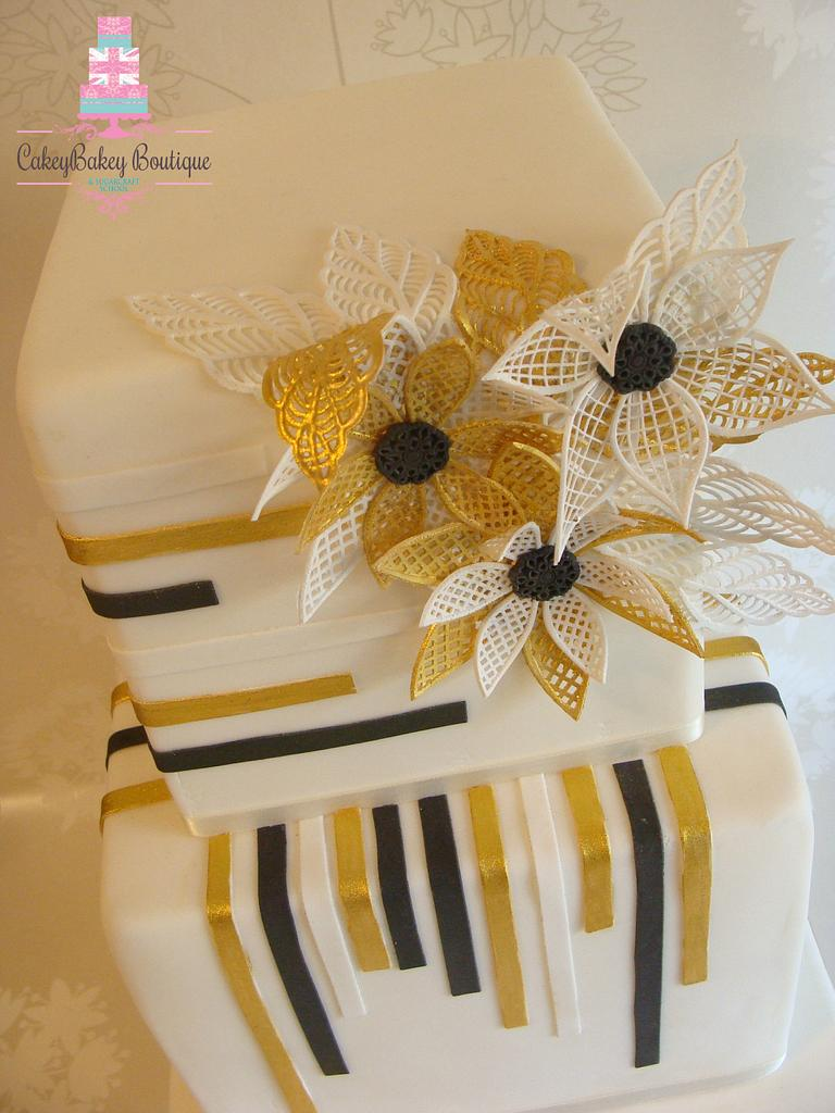 Art Deco Cake by CakeyBakey Boutique