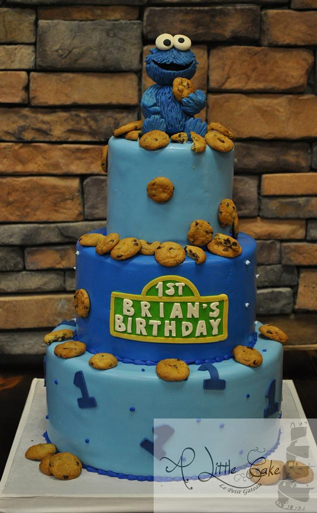 Cookie Monster First Birthday Cake by Leo Sciancalepore