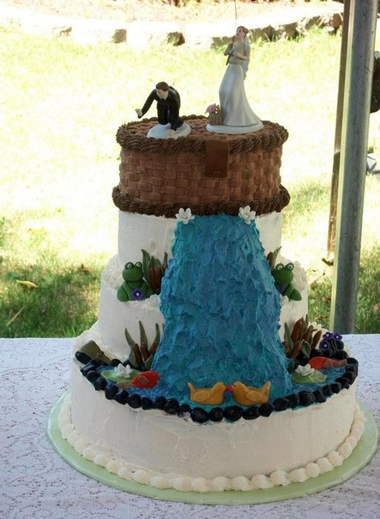 Fishing Wedding Cake  by jujucakes