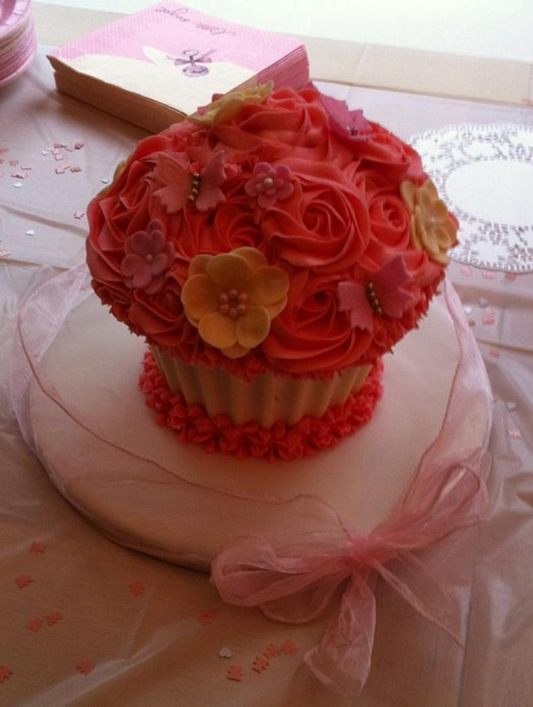 Baby Shower Giant Cupcake by cupcaketopia