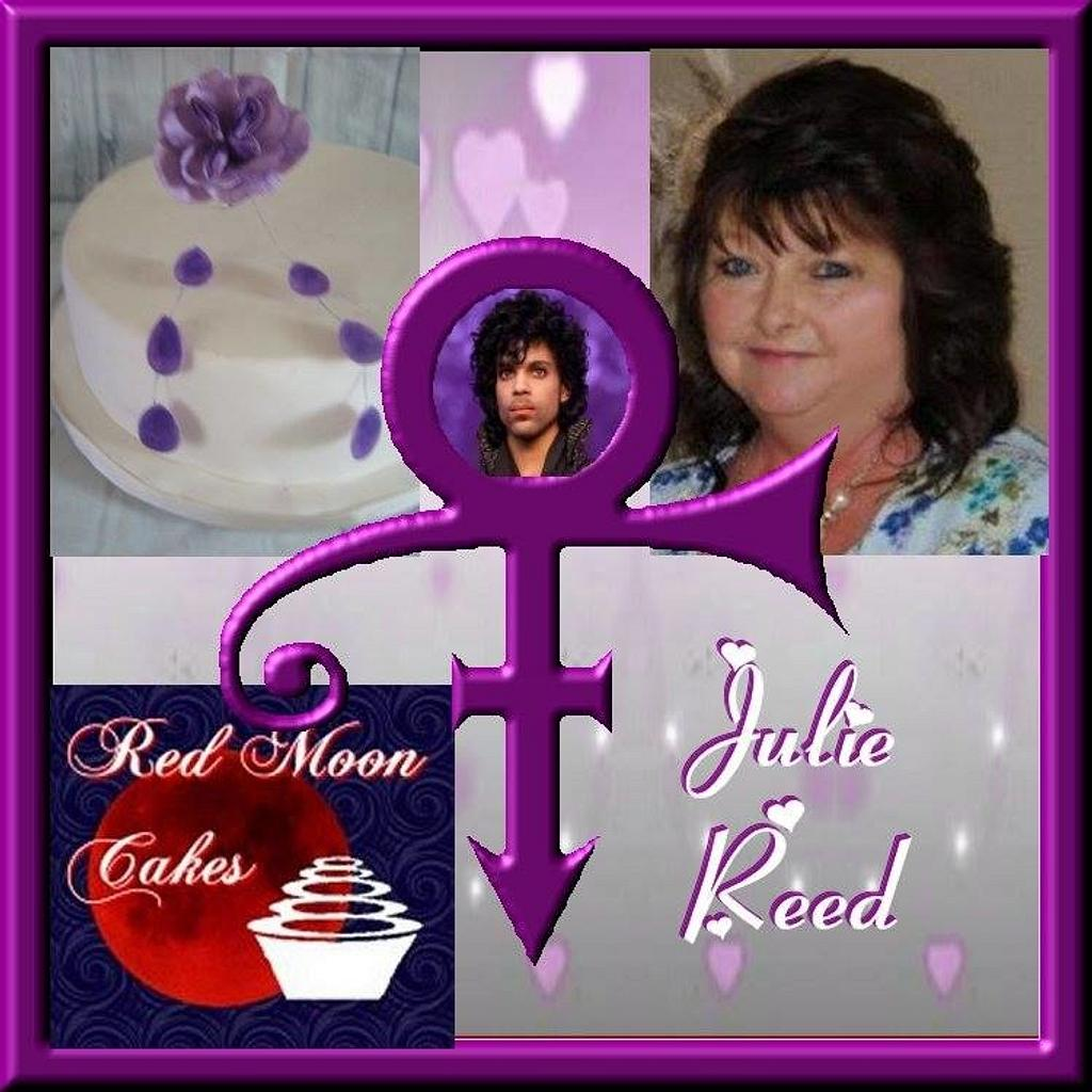 CPC Prince Collaboration - Purple Rain  by Julie Reed Cakes