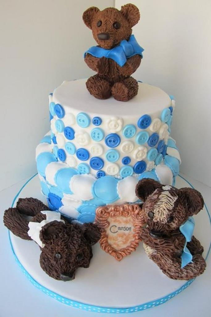 Teddy Bear Baby Shower Cake by Denise Frenette
