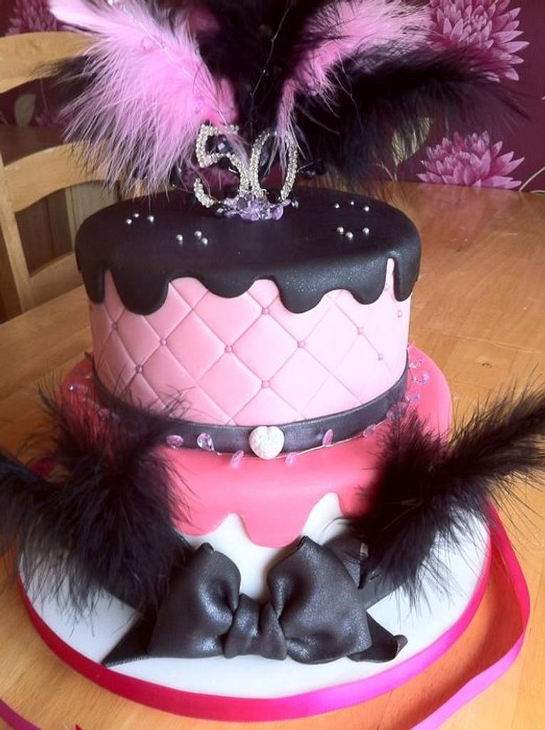 Feathers and bling by GazsCakery